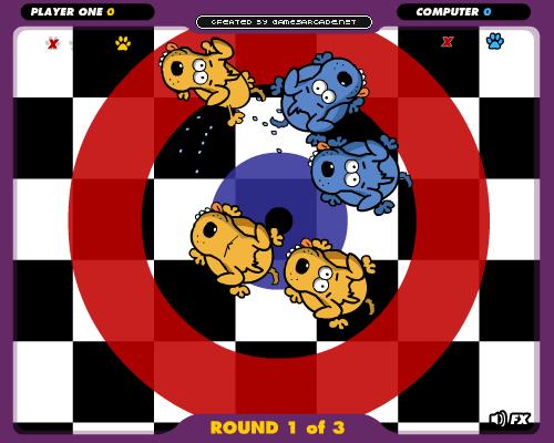 Puppy Curling: curl uw puppy naar het centrum van het doel en versla uw tegenstander